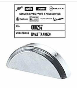 Chiavetta volano 12,6x5x3mm Piaggio Vespa